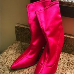 Shoes - Unused hot pink sexy booties